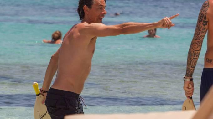 Inzaghi dal calcio ai racchettoni in spiaggia con Aquilani