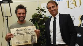 """Nek direttore del Carlino per un giorno: """"Che emozione vedere come nasce un quotidiano"""""""