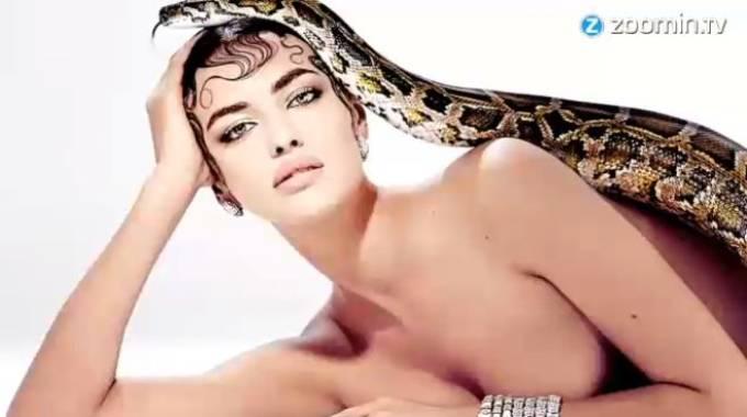 Irina Shayk, tentatrice ammaliante senza veli
