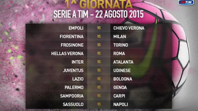 Serie A 2015-2016, partenza col botto: subito Roma-Juve e Inter-Milan