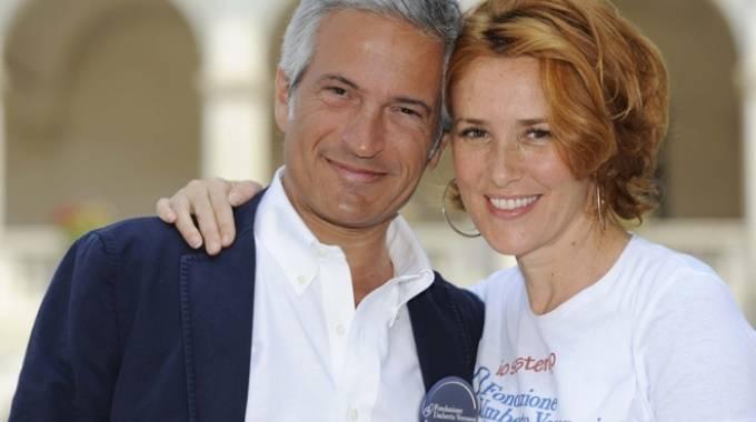 Paolo Veronesi con Lucrezia Lante Della Rovere