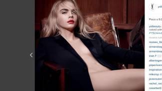 Cara Delevingne posa nuda per i nuovi rossetti di Yves Saint Laurent