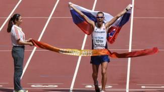 Mondiali Atletica, impresa dello slovacco Toth nella 50 di marcia