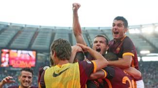 Festa Roma, Juve battuta 2-1. Doppietta Jovetic, vince l'Inter. Pari a Napoli, Lazio e Viola ko