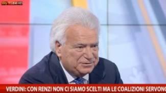 """Verdini canta in tv: """"La maggioranza sai, è come il vento..."""""""