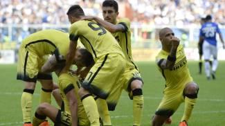 Perisic sveglia l'Inter, beffa Samp. La Roma riparte da Palermo: 2-4. Di Natale gol, Udinese-Genoa 1-1