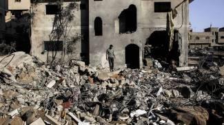Case distrutte a Gaza (Olycom)