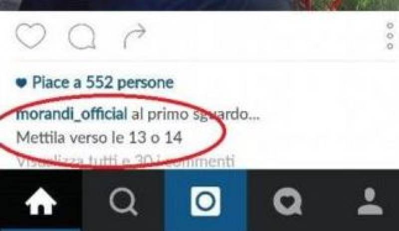 L'indicazione su Instagram che ha fatto deflagrare il dubbio