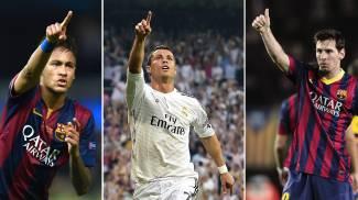 Messi, Cristiano Ronaldo e Neymar candidati al Pallone d'Oro 2015