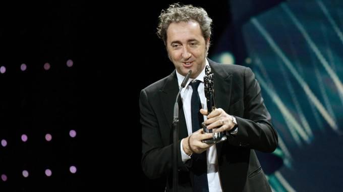 Sorrentino a Berlino riceve il premio come miglior regista europeo (Ansa)