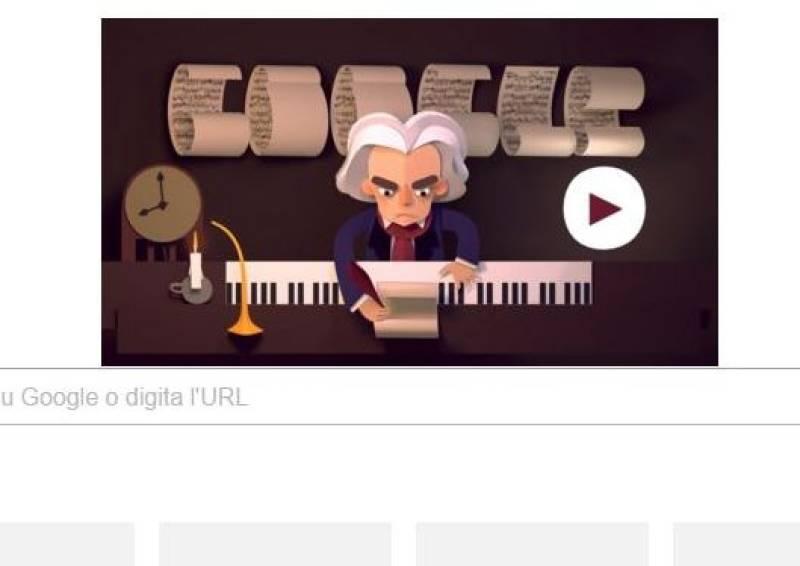 Google, un doodle per i 245 anni di Ludwig van Beethoven