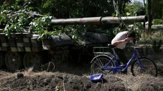 Un tank dei miliziani filorussi (Ap/Lapresse)