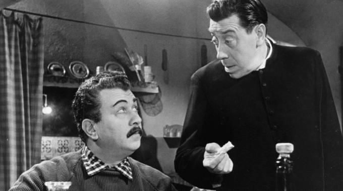 ''Il piccolo mondo di Don Camillo'', con Gino Cervi e Fernandel