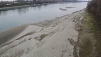 La pioggia salva il Po, il livello del fiume sale di oltre un metro