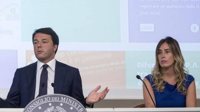 Matteo Renzi e Maria Elena Boschi (ANsa)