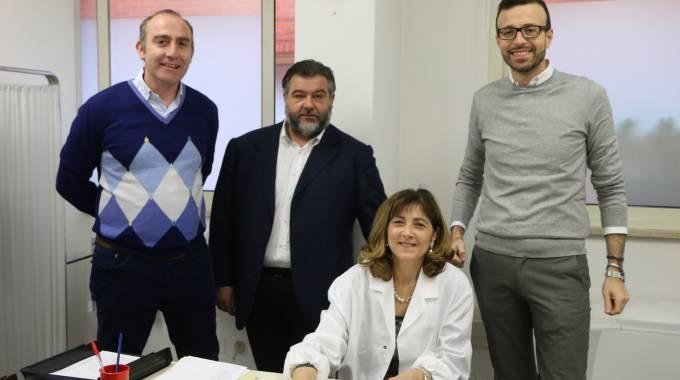 De Franco con il consiglirere regionale Mazzeo, Marcacci e Strambi