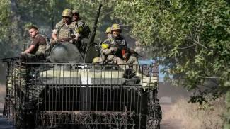 Ucraina, un carro armato di Kiev (Reuters)