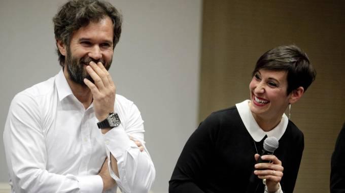 Masterchef: Carlo Cracco ed Erica Liverani (Ansa)