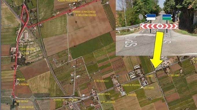 Vada il comune chiude la parte nord di via belvedere for Lo stradone