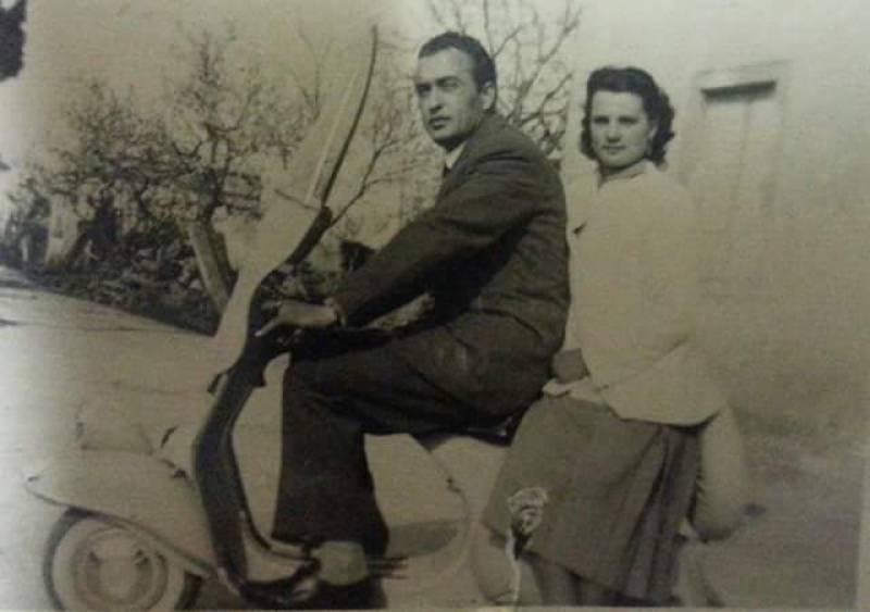 Babbo Enzo nel 1955 (da Giuliano Puccini)