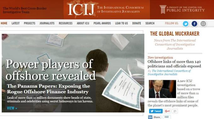 L'International Consortium of Investigative Journalists (Icij)  (da sito)