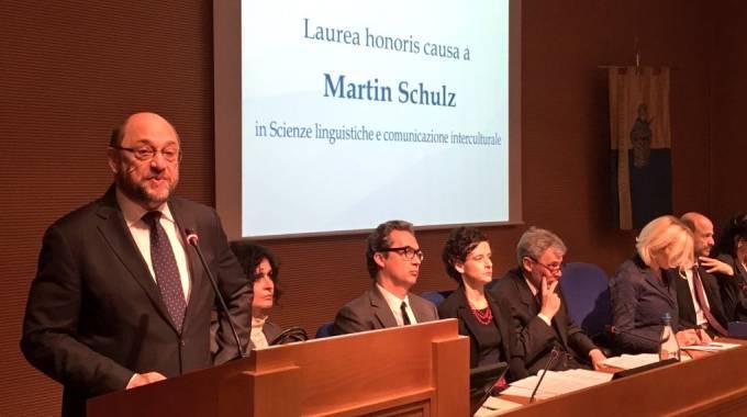 La laurea a Martin Schulz