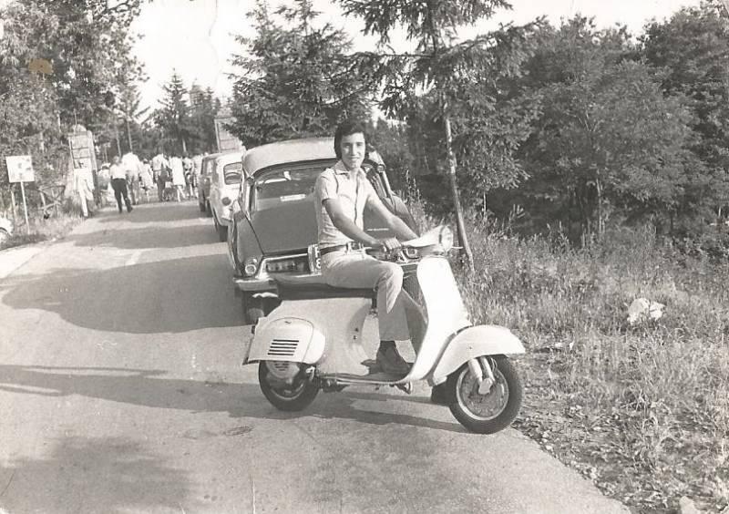 Fabio Cecchini a Montesenario nel 1969 con la Primavera 125