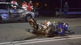 Terribile incidente sulla statale per Milano, grave un motociclista