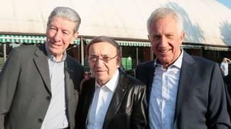 Moser, Gimondi e Fondriest in festa per il campione Gianni Motta