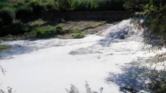 Il fiume Elsa come una 'vasca da bagno'