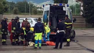Turista cade, salvataggio spettacolare con l'elicottero a Castelfiorentino