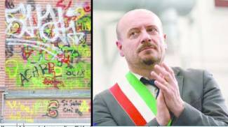I figli imbrattano un muro, i vigili non perdonano il sindaco Drei