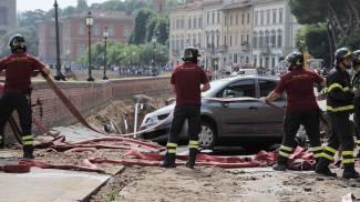 Crollo del lungarno, tornata l'acqua a Prato