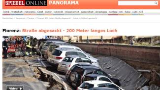 Voragine lungarno, il crollo fa il giro del mondo: ecco i siti stranieri