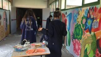 I ragazzi del Comandini dipingono il loro futuro