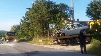 Incidente frontale a Pollenza, 63enne soccorso con l'eliambulanza