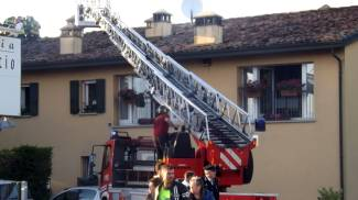 Incendio all'Osteria del Boccaccio a Sant'Agata sul Santerno. Le foto dei soccorsi