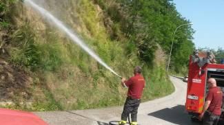 Incendio a Monsampolo, tra le possibili cause un mozzicone di sigaretta