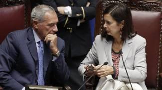 Il presidente del Senato Pietro Grasso e quello della Camera Laura Boldrini (Ansa)