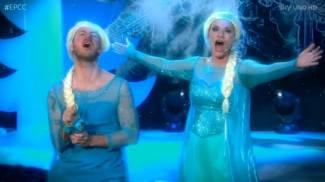 Laura Pausini e Cattelan, due 'Else' per un Frozen tutto da ridere / VIDEO