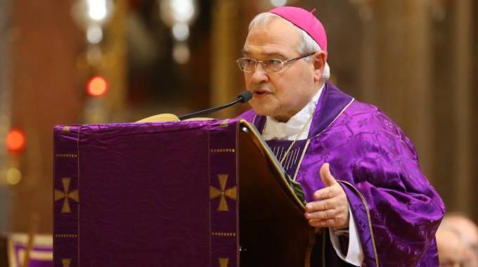 L'arcivescovo di Ferrara Luigi Negri (foto Businesspress)