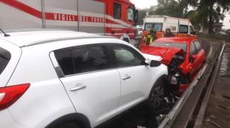 Incidente frontale fra 2 auto a Villa Pianta, 5 feriti/FOTO