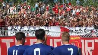 Ultras del Rimini lancia sassi contro gli avversari, arrestato
