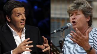 Matteo Renzi e Susanna Camusso