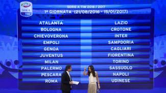 Calendario completo Serie A 2016/17, tutte le giornate e le partite