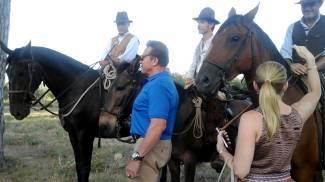 Il Divo Arnold Schwarzenegger, i cavalli e i Butteri