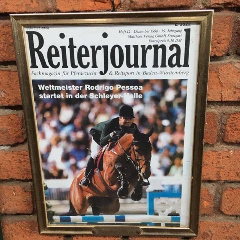 Lianos e Rodrigo Pessoa in copertina nel 1998 su Reiter Journal, media tedesco