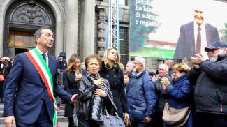 Beppe Sala con la moglie di Veronesi