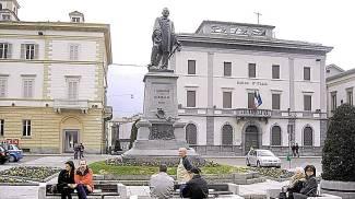 Piazza Garibaldi a Sondrio