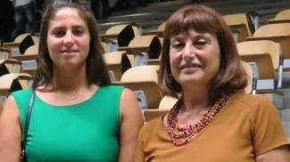 Il sindaco di Santarcangelo Alice Parma e la preside dell'istituto 'Molari', Maria Rosa Pasini